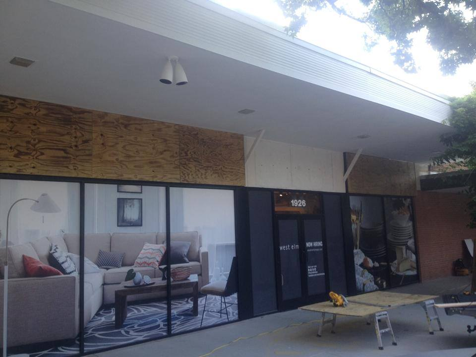 ABS Installed Reclaimed Barn Wood On Exterior Storefront